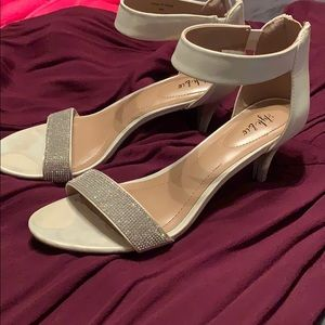 Style & Co Shoes - Style & Co White ankle strap heels